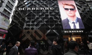 A Burberry store in Hong Kong.