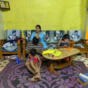 Sushma, a teacher, spends time with her family