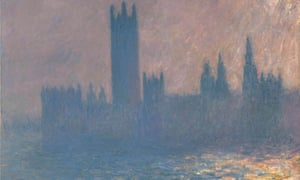 Detail from Claude Monet's Houses of Parliament, Sunlight Effect (1903)