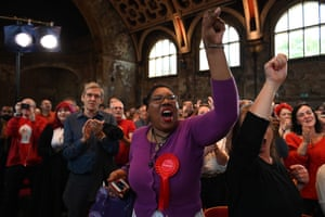 London, England Labour party activists applaud as Jeremy Corbyn launches the party's election campaign in south London