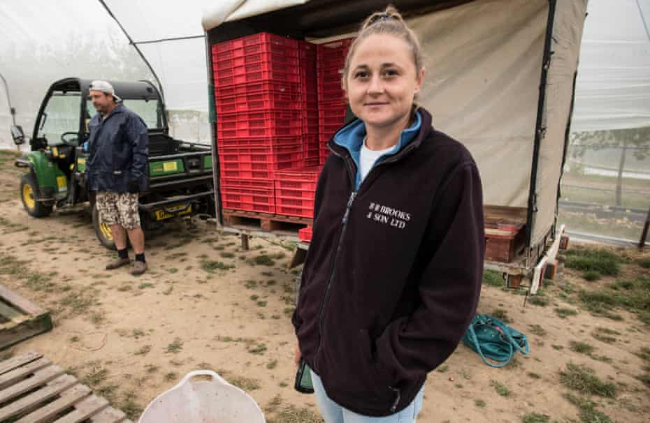 Roxana Bertolan, a team leader at Langdon Manor Farm