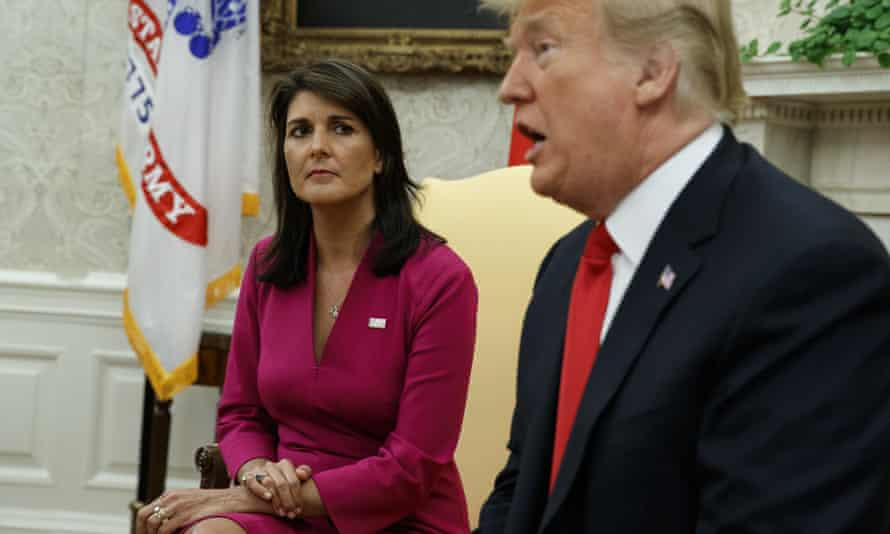 Haley was that rare senior Trump administration official to get a White House send-off from the president.