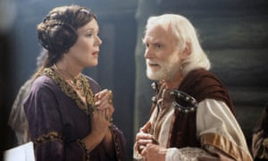 Diana Rigg as Regan with Laurence Olivier as King Lear in 1983