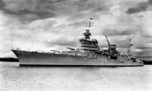 The USS Indianapolis was sunk on 30 July 1945 with the loss of hundreds of lives.