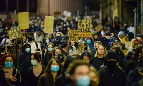 A 'kill the bill' protest in Bristol on Tuesday.