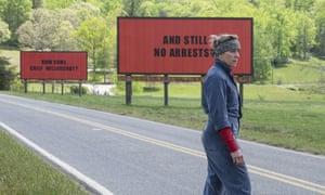 Best actress? ... Frances McDormand in Three Billboards Outside Ebbing, Missouri.