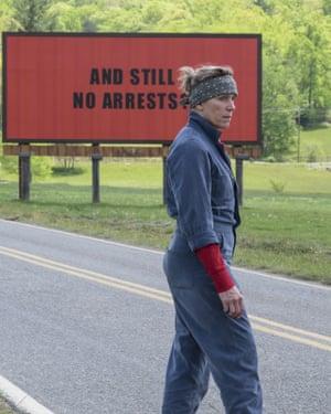 Frances McDormand in Three Billboards.