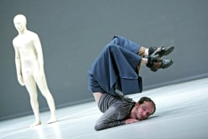 Antony Gormley created sculptures for Zero Degrees (2005), choreographed and performed by Akram Khan and Sidi Larbi Cherkaoui.