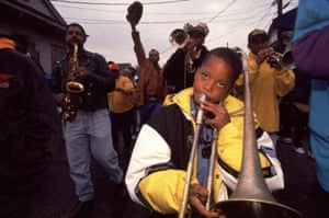 Musicians play during a 1994 carnival in New Orleans.