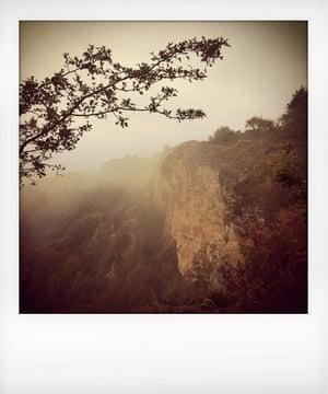 a limestone cliff