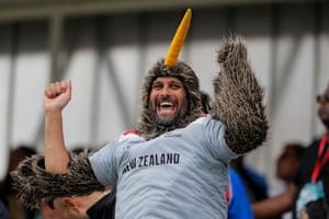 Nicholls made a half century, giving Kiwi fans something to celebrate