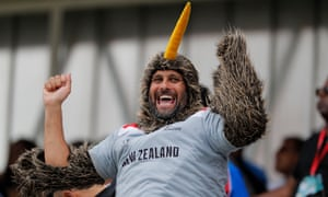A New Zealand fan during the final at Lord's.