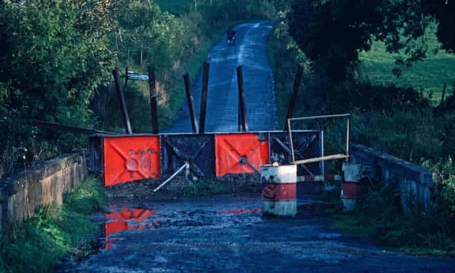 A roadblock in County Fermanagh in 1980.