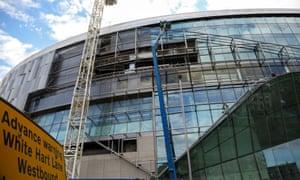 Construction of the new Tottenham Hotspur football stadium, London.
