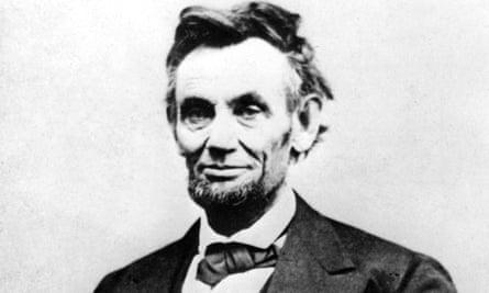 Abraham Lincoln in an 1865 portrait photograph by Alexander Gardner.
