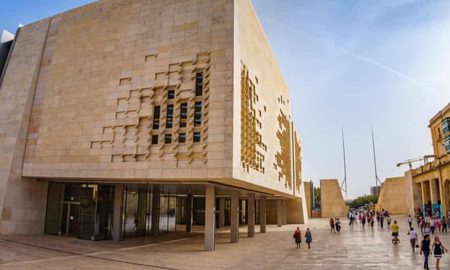 Parliament House in Valletta, Malta