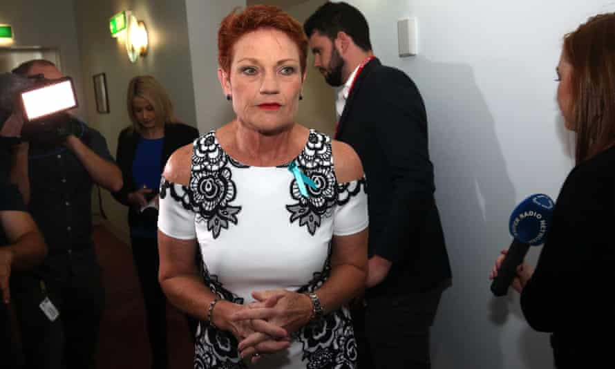 The leader of One Nation, Pauline Hanson