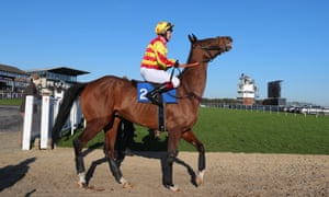 Richard Johnson on his way out to ride Westend Story at Exeter.