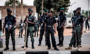 Nigerian police … the mayor declares independence from Nigeria in The Rosewater Insurrection, to the ire of the national government.