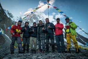 The Project Possible team, from left: Lakpa Dendi, Mingma David, Geljen, 'Nims' Purja, Dawa, Halung Dorchi, Gesman.