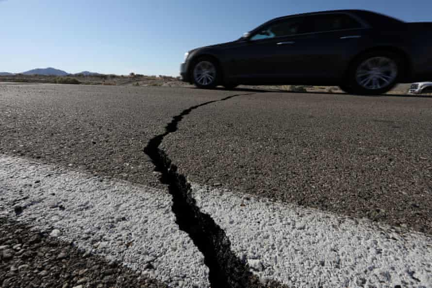 A magnitude 6.4 earthquake shook Ridgecrest in southern California on Friday morning, causing significant damage in the area.