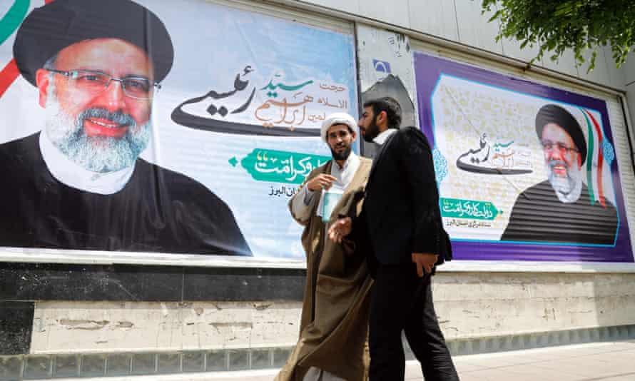 Election posters of Iranian presidential candidate Ebrahim Raisi.