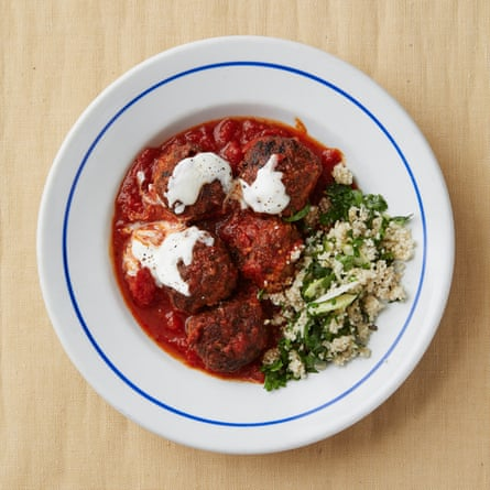Towpath's Cafe's lamb meatballs.