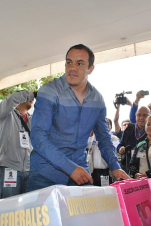 Cuauhtémoc Blanco casts his vote during elections in Cuernavaca last June that saw him elected mayor of the city.