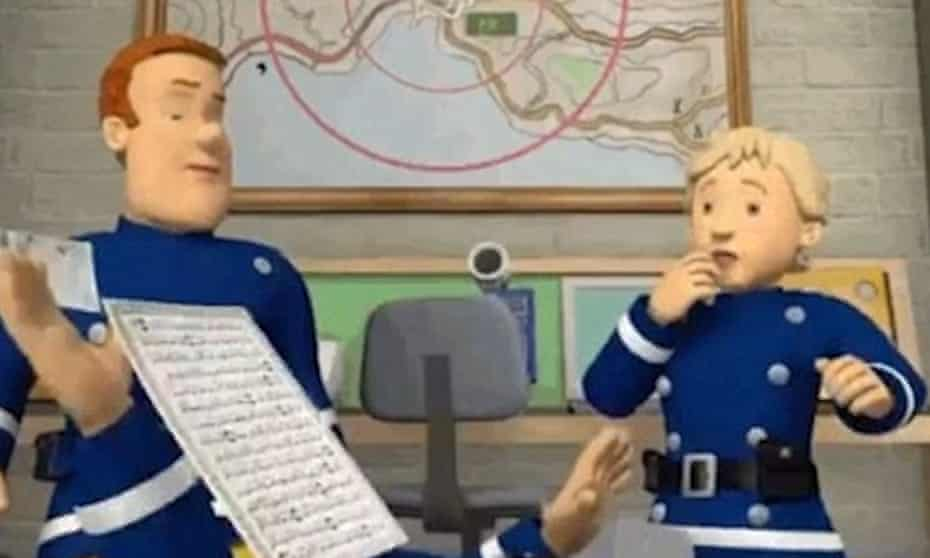 A still from the Fireman Sam episode, Troubled Waters.