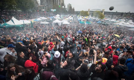 The 4-20 annual marijuana celebration in Vancouver on 20 April 2018.