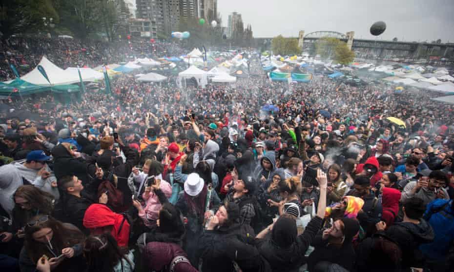 The 4-20 annual marijuana celebration in Vancouver on 20 April 2018.