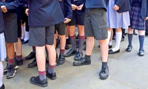 Primary school children in uniform.