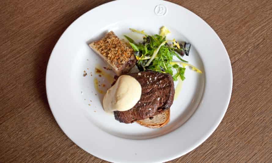 Steeper than Hawksmoor: fillet steak, £12.78 for 100g.