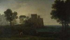 Claude Lorrain's The Enchanted Castle (1664).