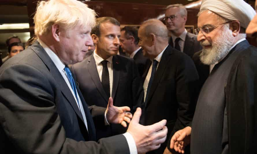 Boris Johnson meets president of Iran Hassan Rouhani at the 74th Session of the UN General Assembly.