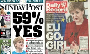 Two newspapers betray enthusiasm for new poll findings.
