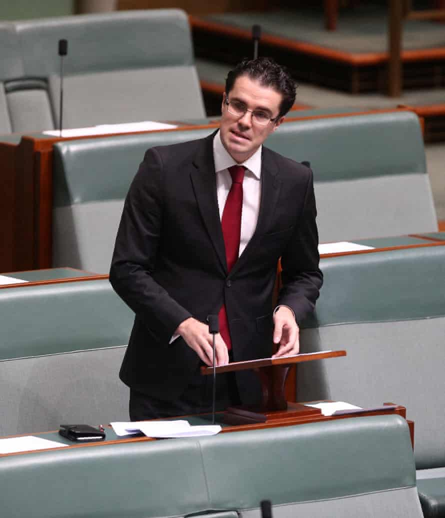 Labor MP Tim Watts speaks on the Migration Legislation amendment bill in the house of representatives of Parliament House Canberra, Wednesday 9 November 2016.