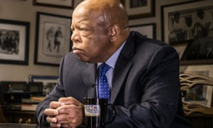 John Lewis being interviewed on NBC's Meet the Press.