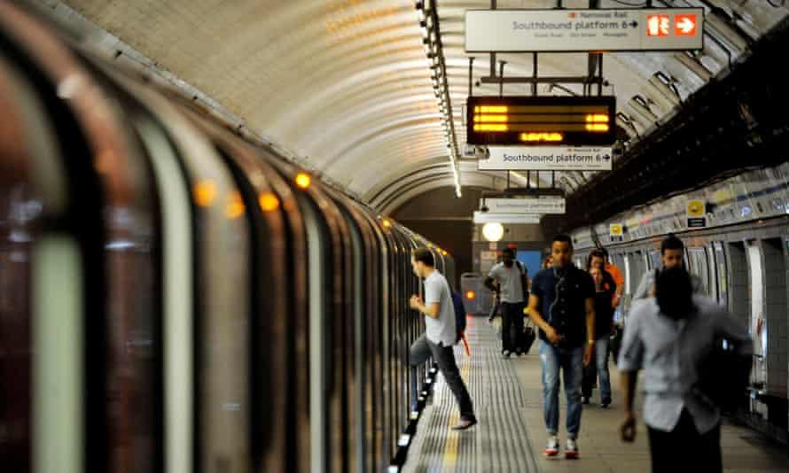 Tube at a platform