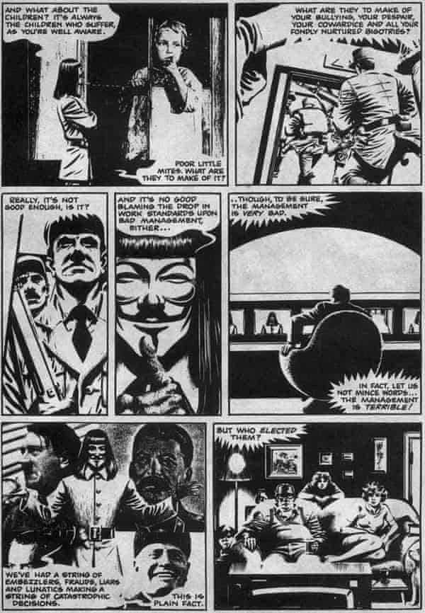 Page from V For Vendetta