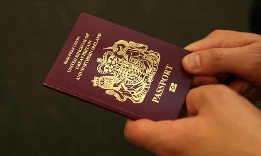 A person holding a British passport