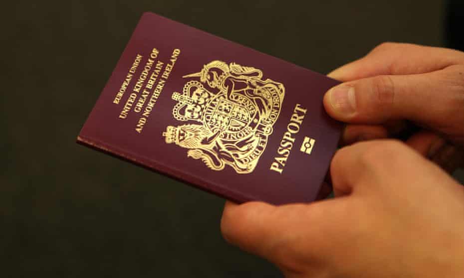 UK passport.