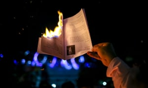 Writers and publishers have set fire to books in protest after the killing of Faisal Arefin Dipan in Dhaka by suspected Islamists