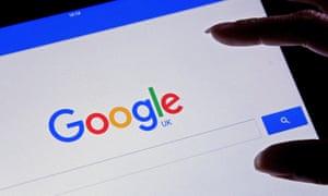 A Google search page