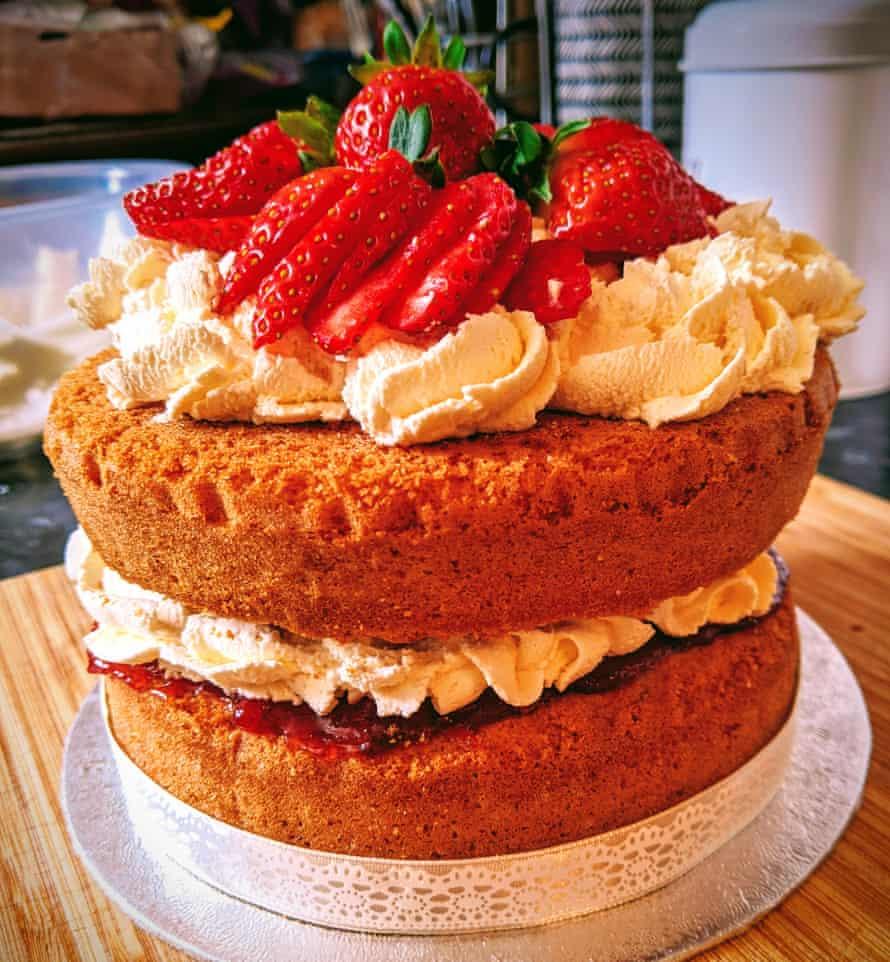 Sasha's treble four, double two cake