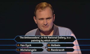 Charles Ingram on Who Wants To Be A Millionaire in 2001.