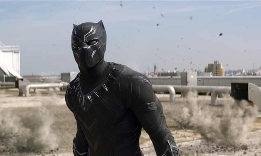 Chadwick Boseman as T'Challa/Black Panther in the film Captain America: Civil War.