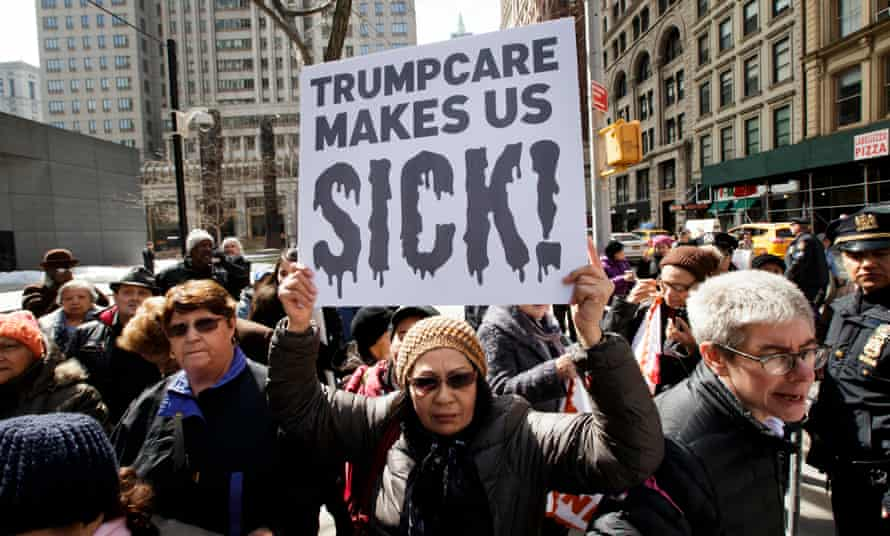 A Protest against proposed Republican legislation that would change Medicaid funding, New York