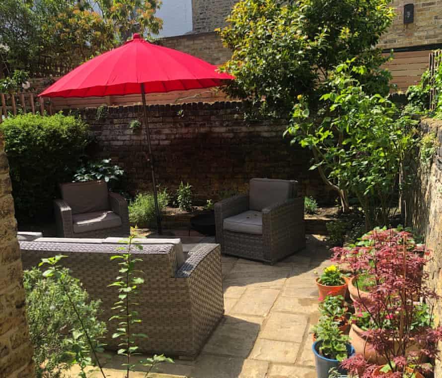 The transformed garden of Heidi Fitchett's apartment in London