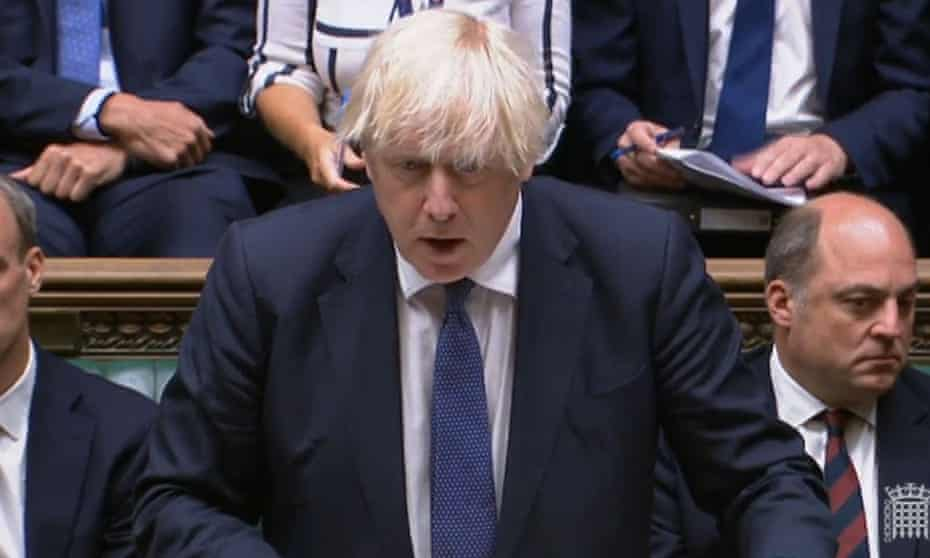 Boris Johnson during the emergency debate on the situation in Afghanistan.